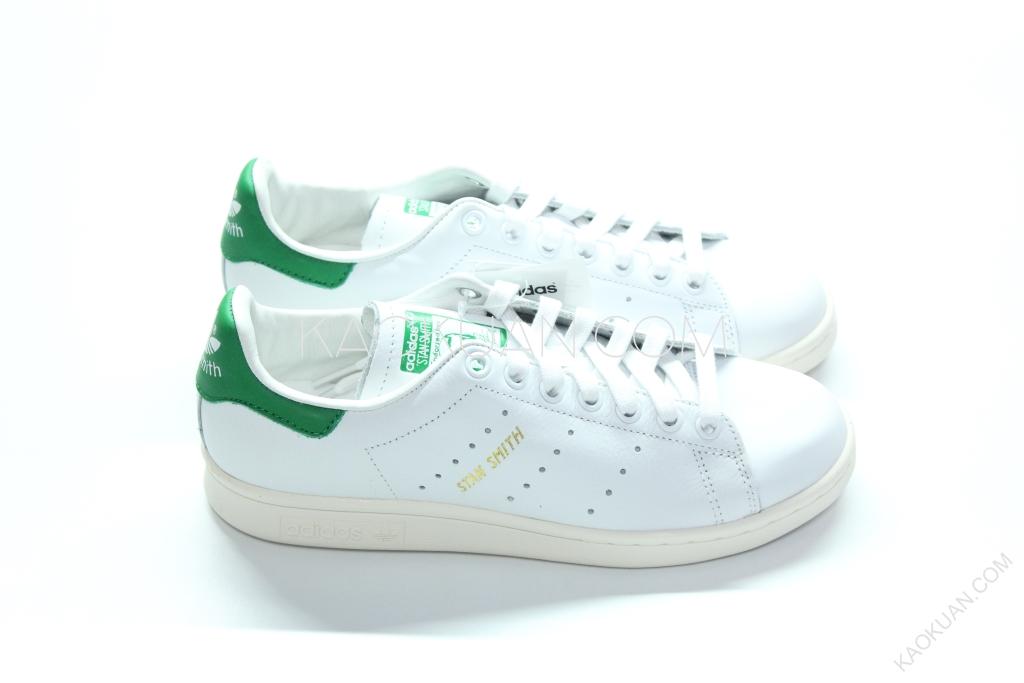 現貨 Adidas STAN SMITH 2016 休閒鞋 奶油底 皮革 白綠 金標 老人頭 S75074