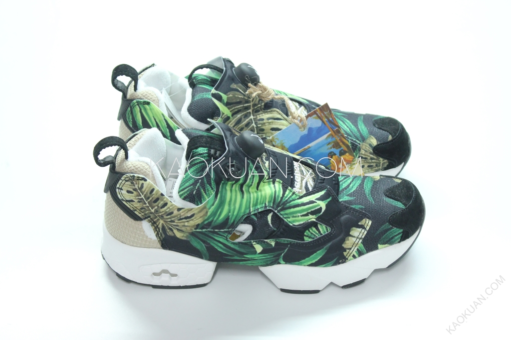 REEBOK JUNGLE GURL INSTA PUMP FURY JG 熱帶叢林 黑綠 AR2491