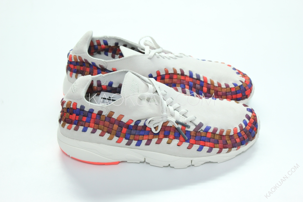 Nike Air Footscape Woven Lab 米白 麂皮 彩虹 編織 男 874892-002