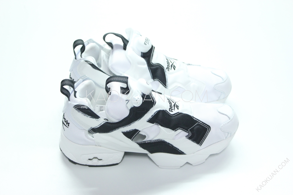 REEBOK INSTA PUMP FURY OB 白色 充氣 蜂巢 氣墊 白黑 慢跑鞋 AR1413