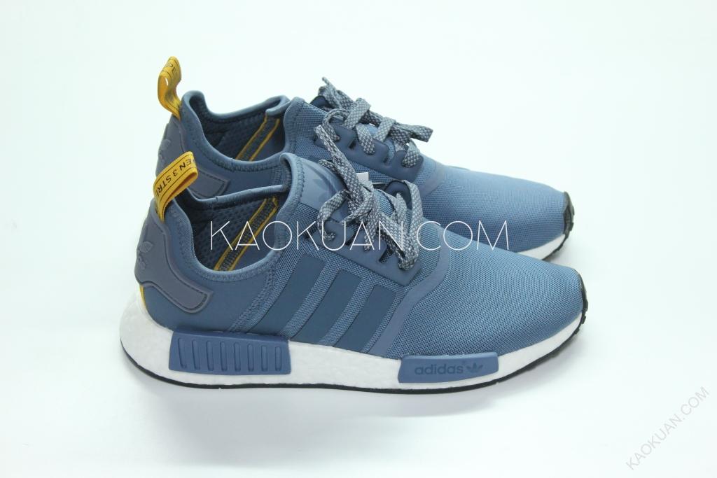 ADIDAS ORIGINALS NMD R1 假日系列 藍 芥茉黃 暗藍 慢跑鞋 S31514