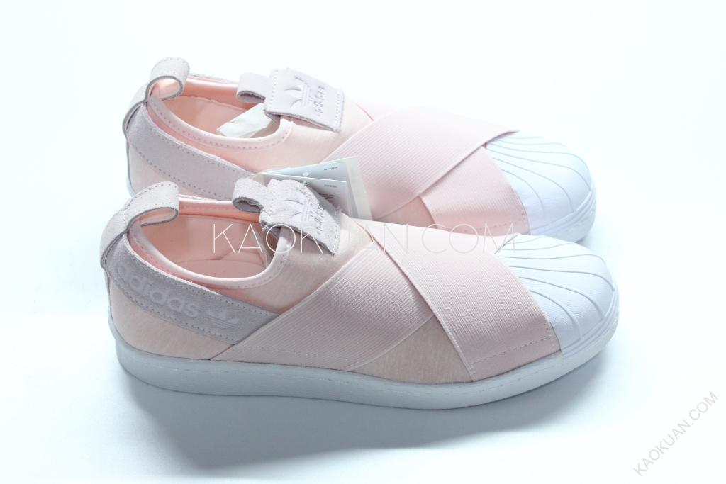 Adidas Superstar Slip On 粉紅 粉色 交叉 繃帶 貝殼頭 懶人鞋 女鞋 S76408