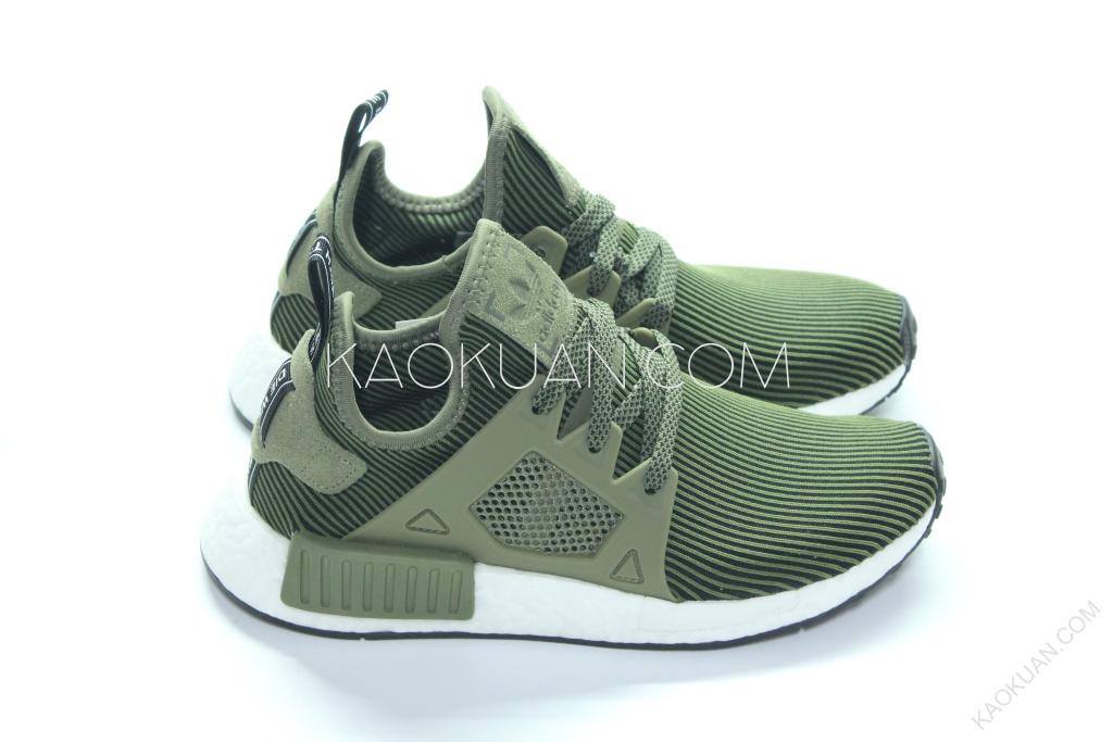 Adidas Originals NMD XR1 條紋 墨綠 軍綠 白底 運動鞋 S32217