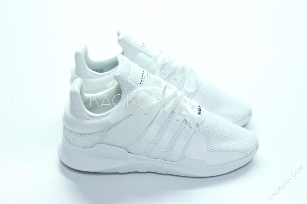 ADIDAS EQUIPMENT SUPPORT ADV EQT 輕量 全白 慢跑鞋 BA8322