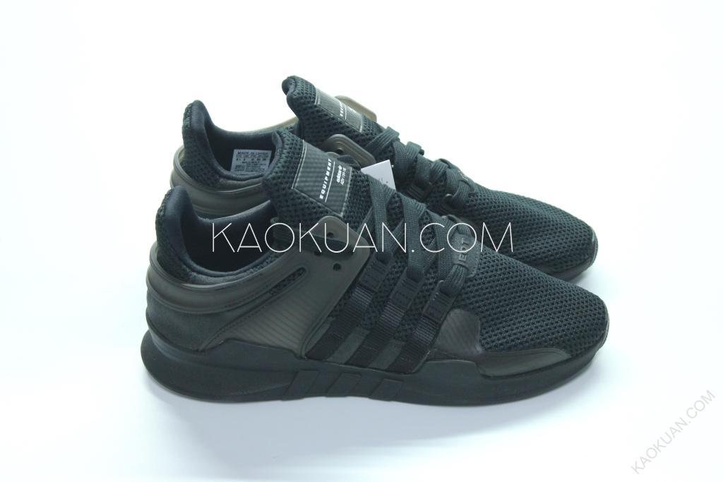 ADIDAS EQUIPMENT SUPPORT ADV EQT 男段 輕量 慢跑鞋 全黑 BA8329