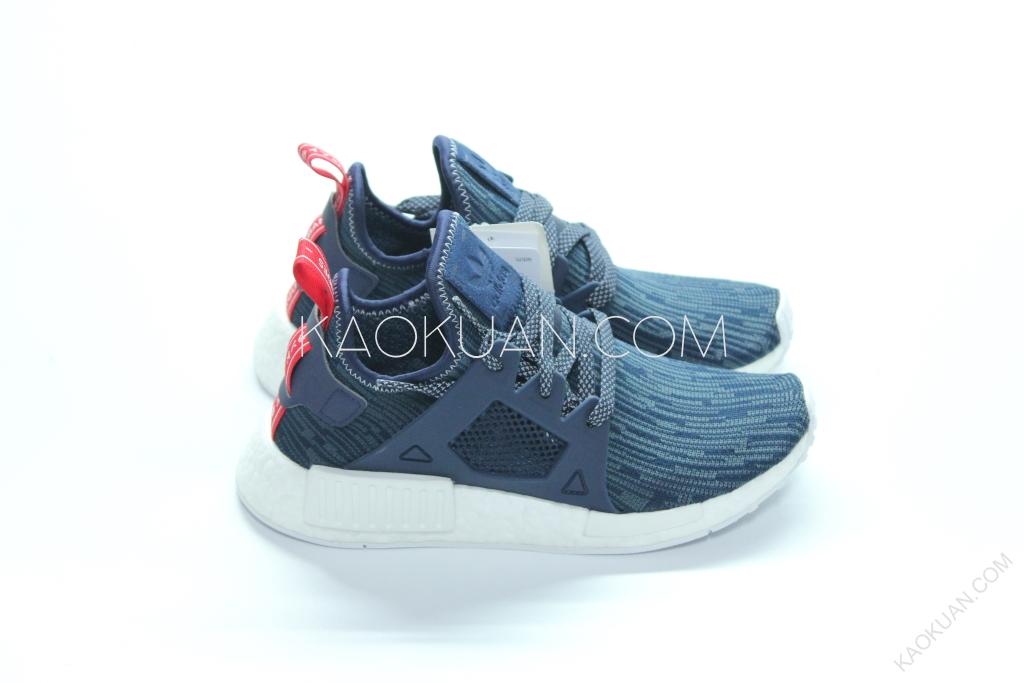 Adidas NMD XR1 PK 藍 紅 深藍 丹寧 雪花 編織 BB3685