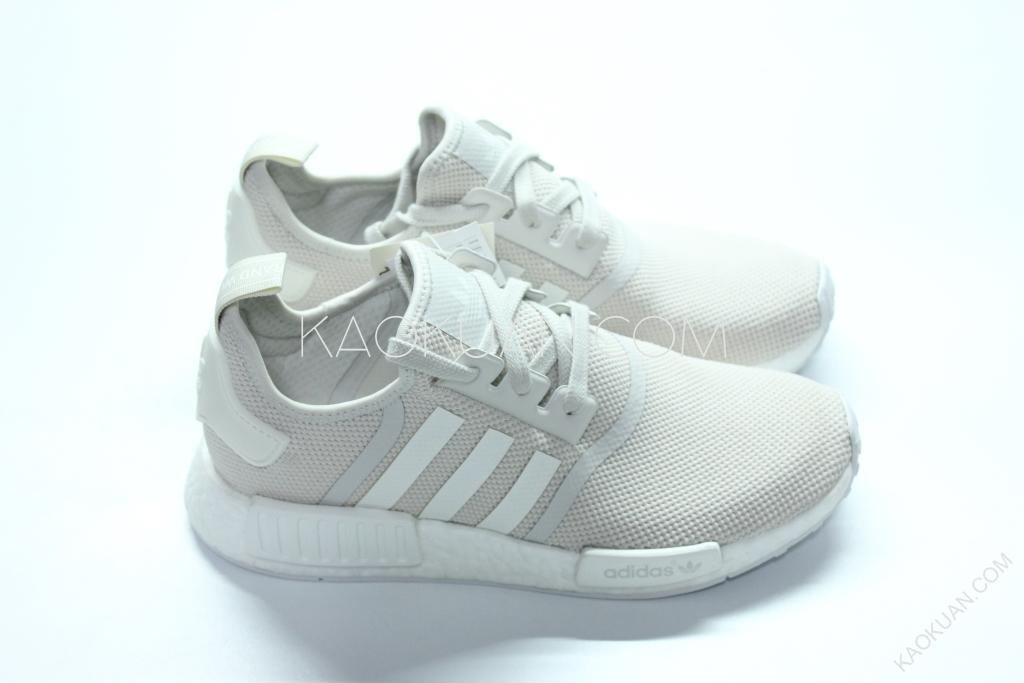 Adidas NMD R1 W RUNNER 白 米白 米色 男 女 鞋 慢跑鞋 S76007