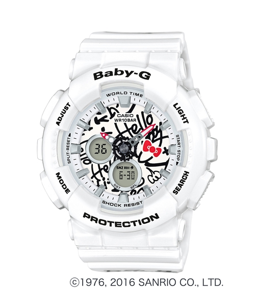 CASIO BABY-G x HELLO KITTY BA-120KT-7A 聯名 限定 凱蒂貓 潮流錶