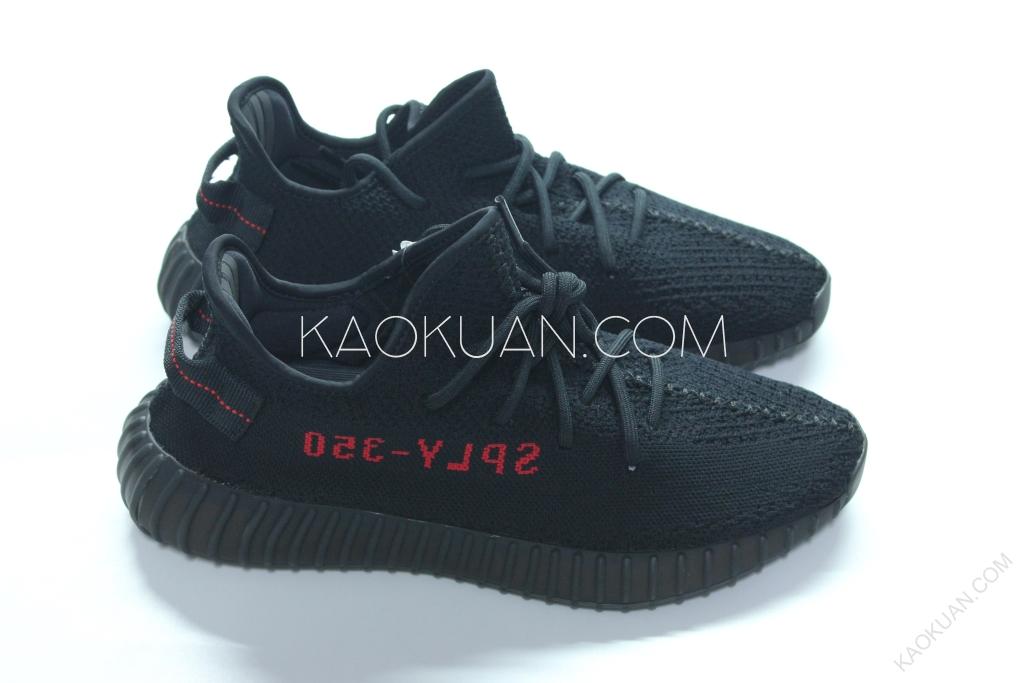 ADIDAS YEEZY 350 V2 Adult 黑紅 黑底紅字 拉環 Kanye Weat CP9652