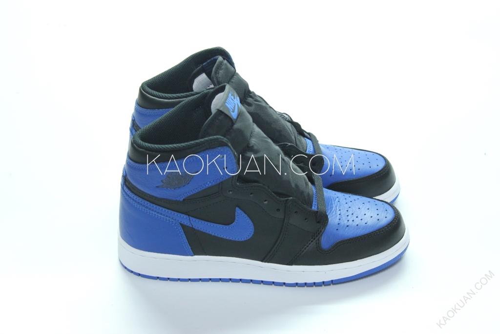 """Jordan 1 Retro OG BG GS """"Royal"""" 黑藍 AJ1 女鞋 575441-007"""