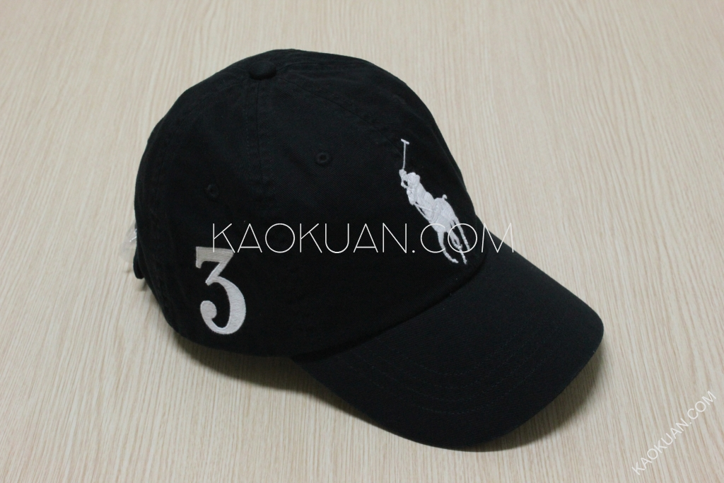 Ralph Lauren Polo BIG PONY LOGO COTTON CAP 黑色 老帽 大馬