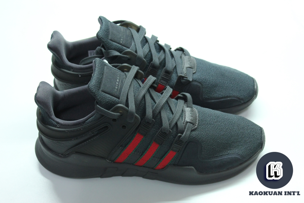 ADIDAS EQT SUPPORT ADV 全黑 紅綠 配色 慢跑 皮革 男女鞋 BB6777