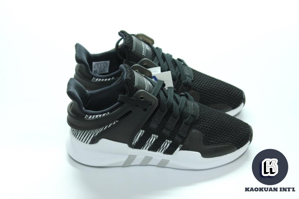 ADIDAS EQT Support ADV 黑白 灰 編織 網布 斑馬 慢跑 男鞋 BY9585
