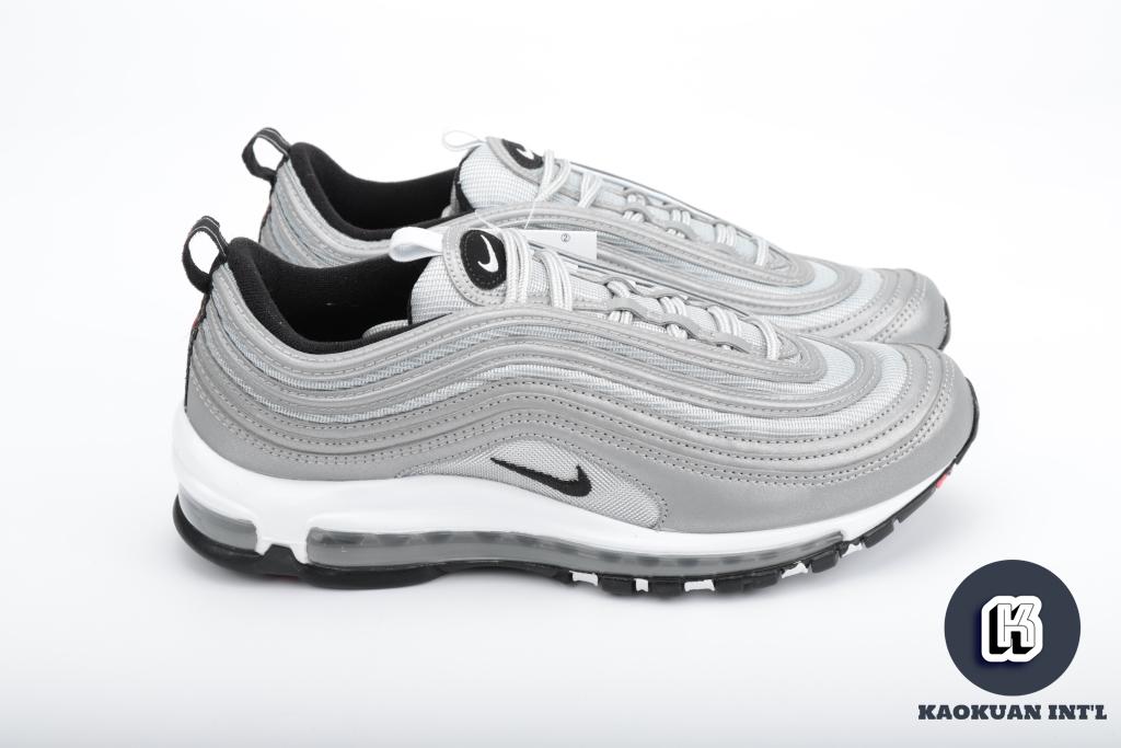 Nike air max 97 PREMIUM SILVER 3M 反光 銀彈 黑勾 312834 007